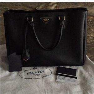 Prada Saffiano Lux Black